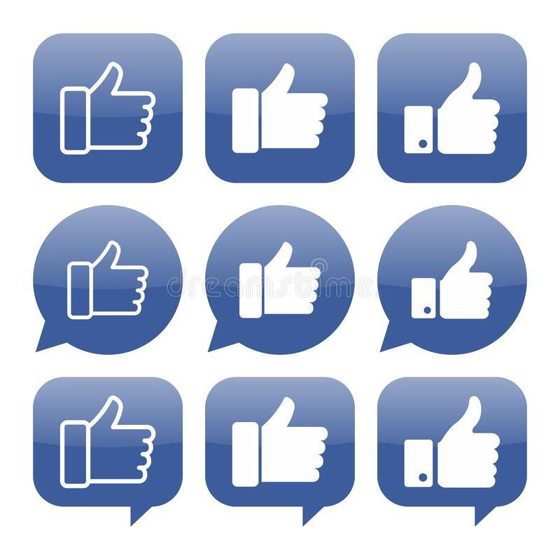Facebook like icon vector collection vector illustration
