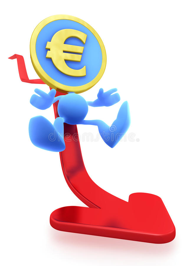 Illustration of the Falling Euro