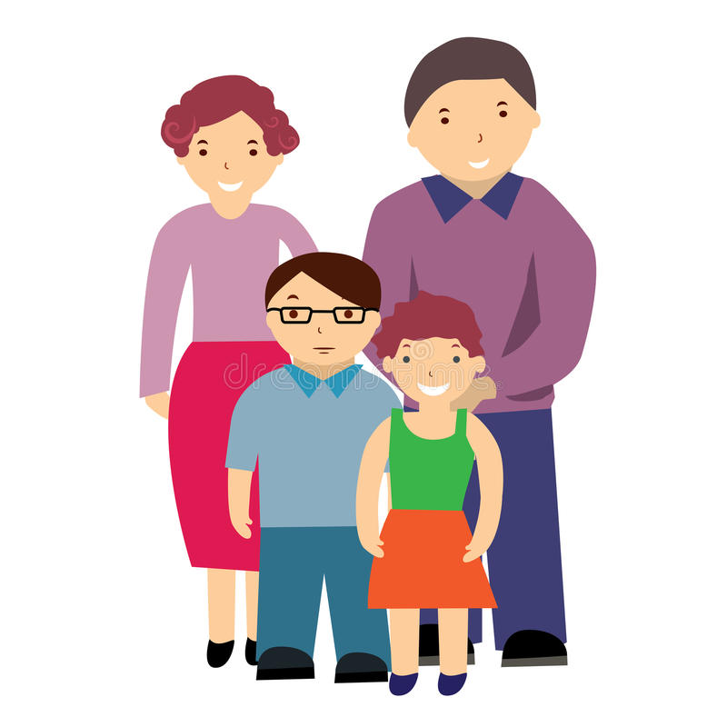 Download Illustration of a family stock vector. Image of portrait - 25531082