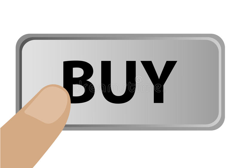 Download Illustration Of A Finger Pressing Buy Button Stock Vector - Image: 15709783