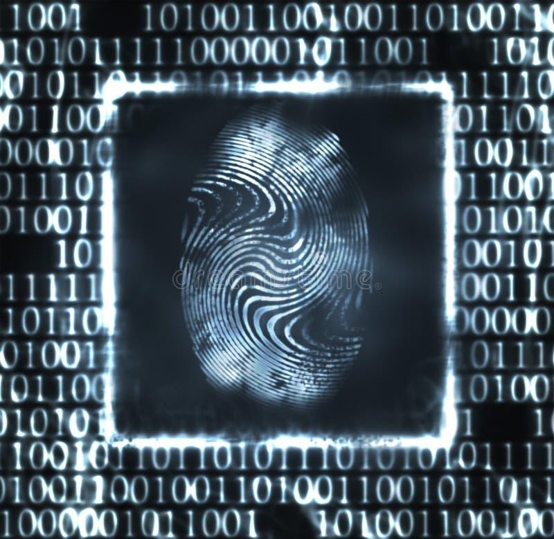 Download Illustration Of The Fingerprint And Digits Stock Illustration - Illustration of access, information: 18944476