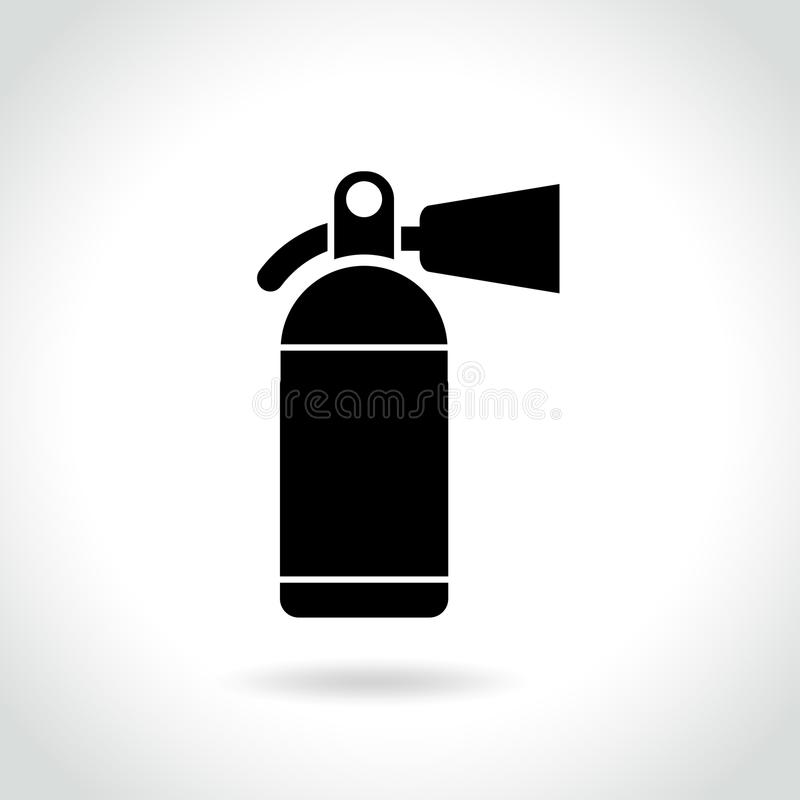 Fire extinguisher icon on white background. Illustration of fire extinguisher icon on white background royalty free illustration
