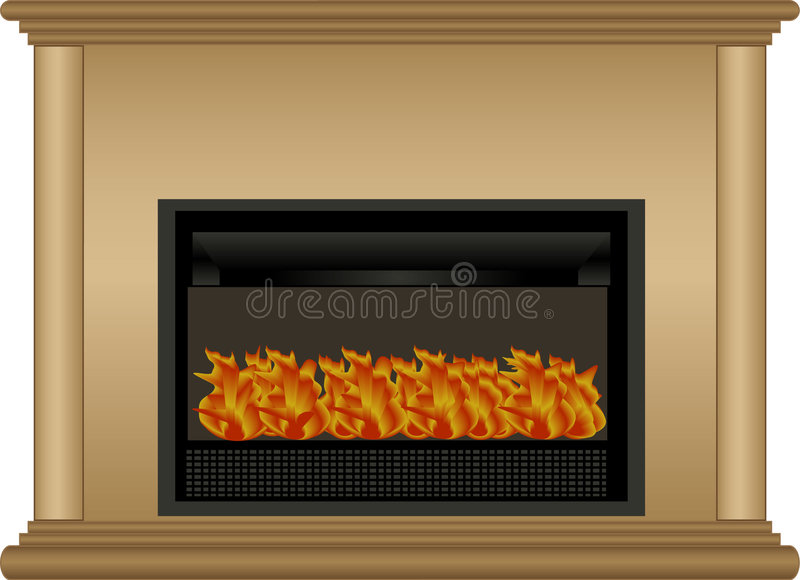 Illustration of fireplace royalty free stock photos