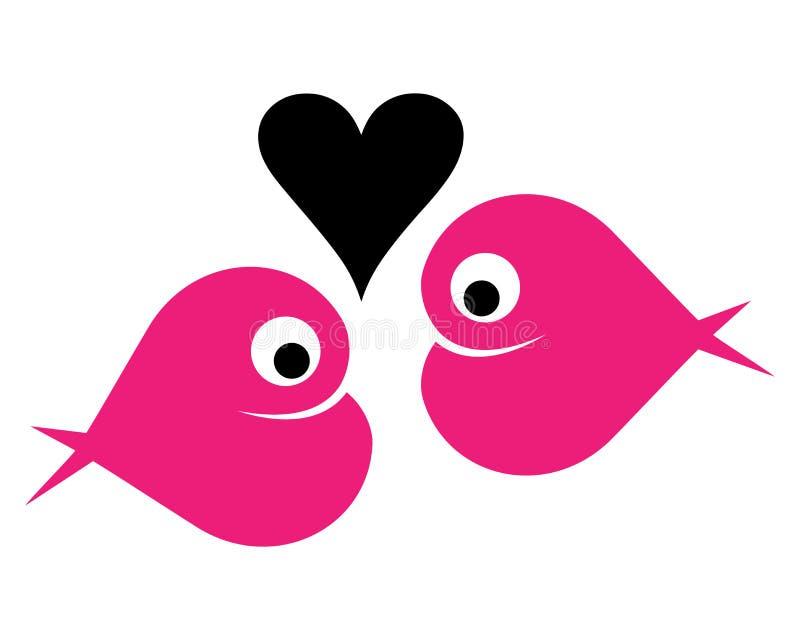 Fish. Illustration of fish heart logo on white background stock illustration