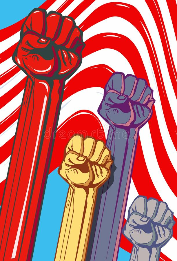 Download Illustration Of Fists Held High Stock Vector - Image: 19731136