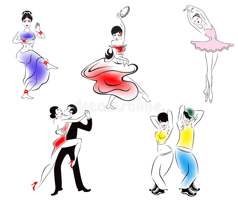 Download Illustration Of Five Dance Styles Stock Illustration - Image: 20934421