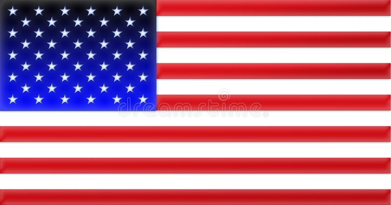 Illustration flag of USA design vector Sticker national flag USA national flag Symbol of nation Vector image of United States stock photography