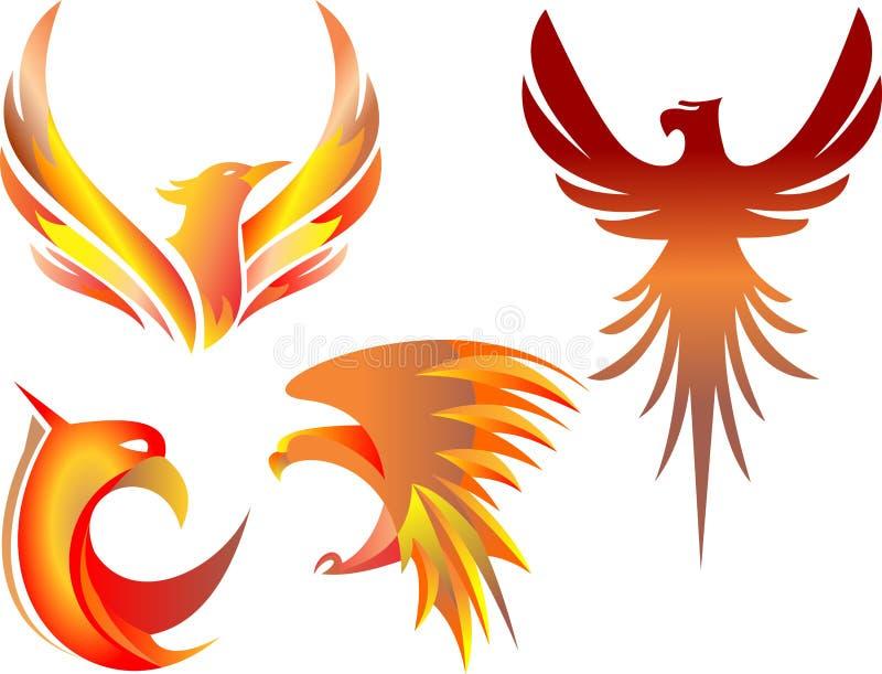 Illustration flamboyante d'oiseau photographie stock libre de droits
