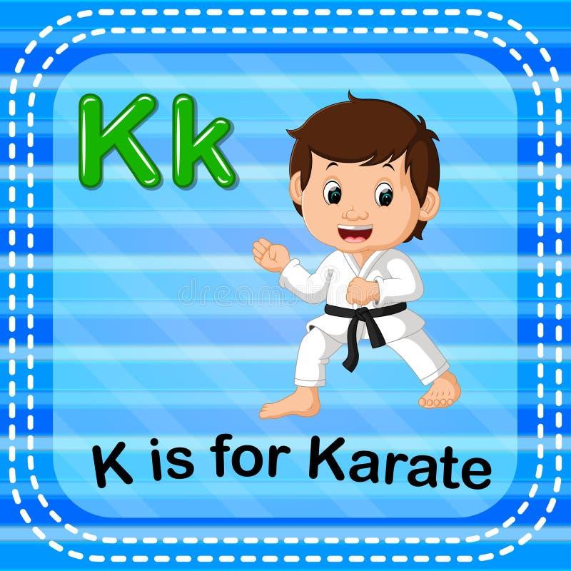 Flashcard letter K is for karate. Illustration of Flashcard letter K is for karate stock illustration