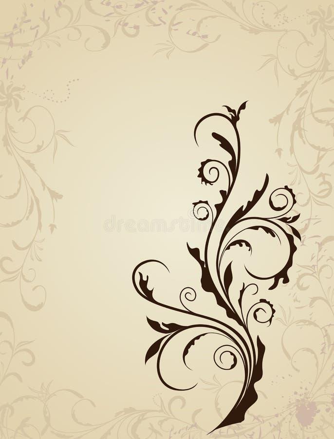 Illustration floral background stock illustration