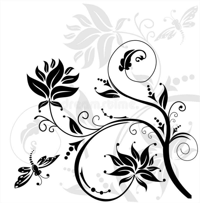 Illustration florale image stock
