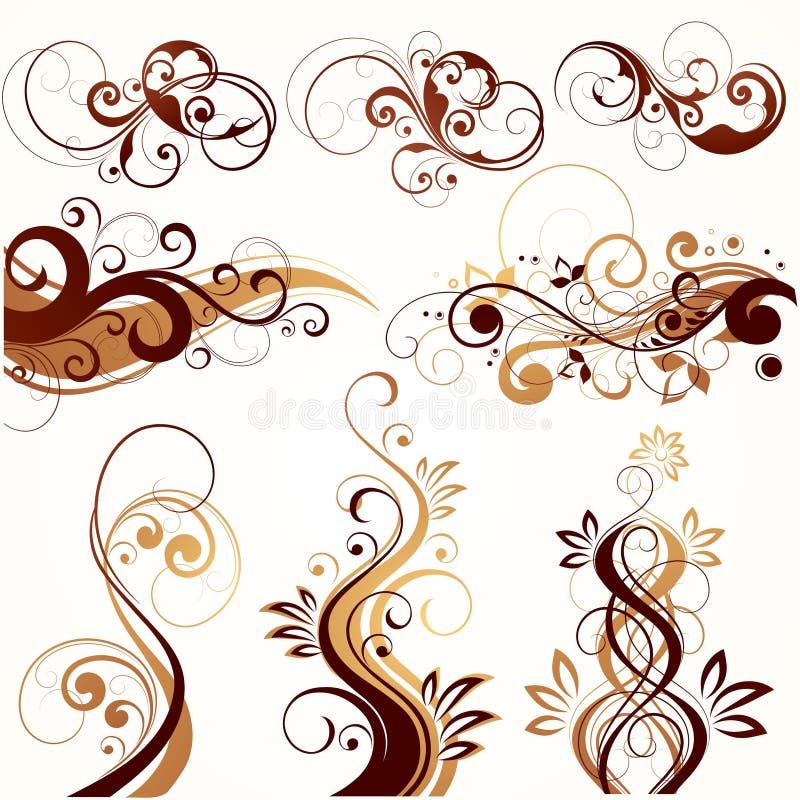 illustration florale abstraite illustration de vecteur