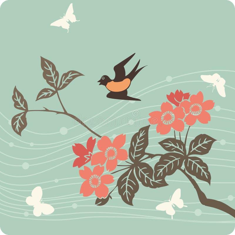 Illustration florale de fond photo libre de droits