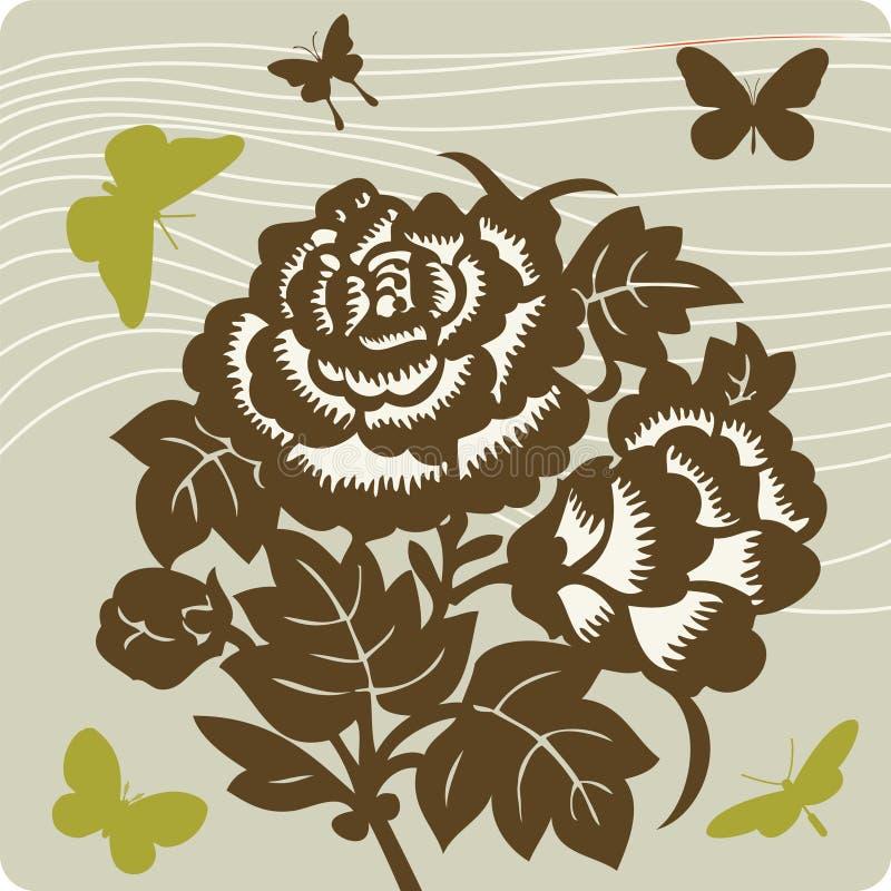 Illustration florale de fond photo stock