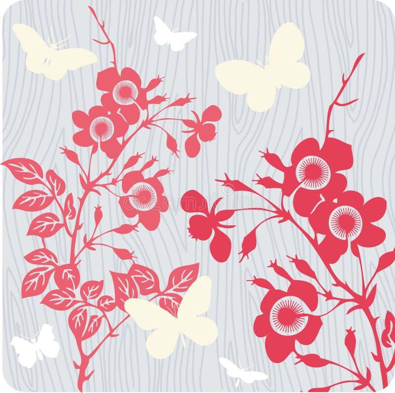 Illustration florale de fond image libre de droits