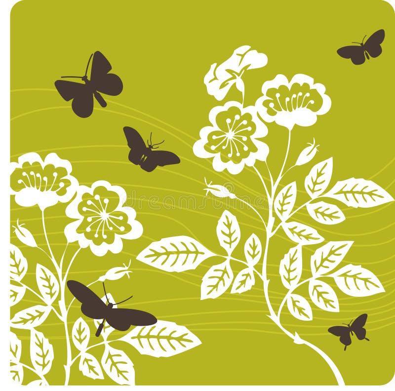 Illustration florale de fond images libres de droits
