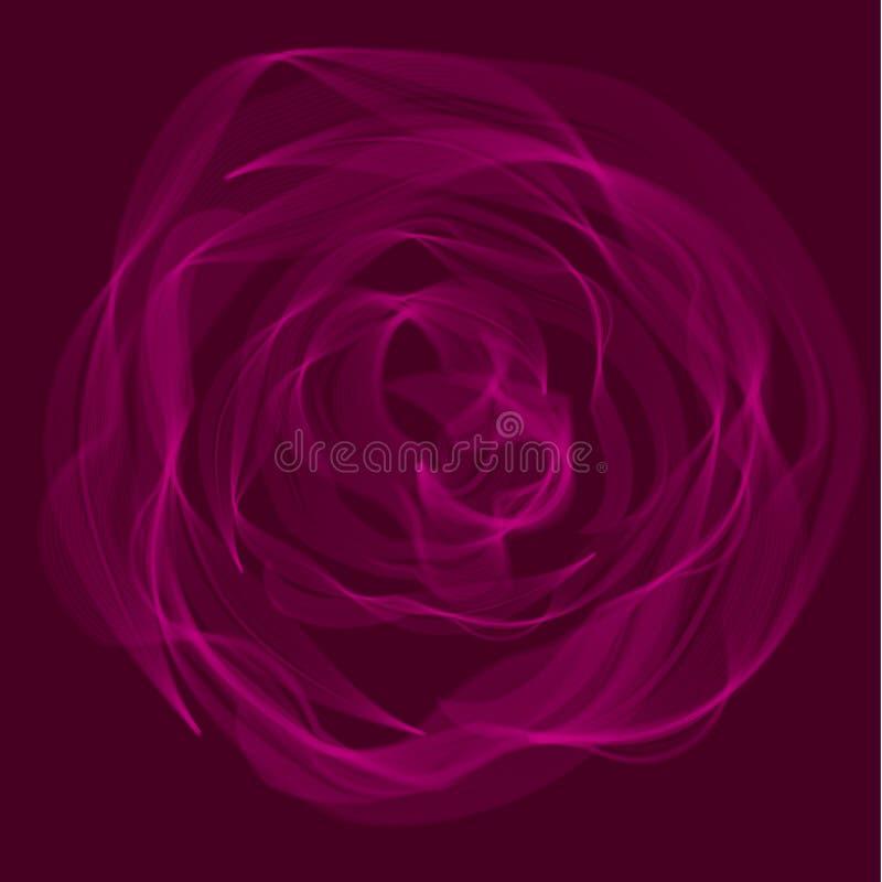 Illustration florale de vecteur de rose de résumé illustration libre de droits