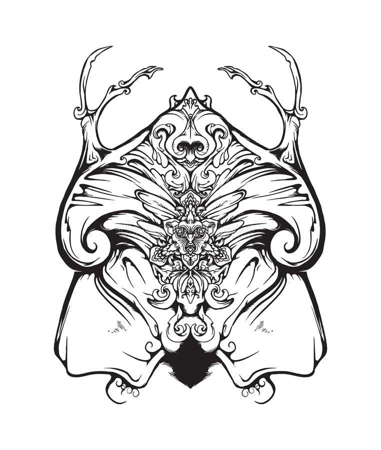 Illustration Florale ORNAMENT MANDALA illustration libre de droits