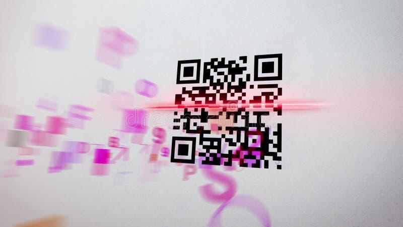 Illustration floue de scanner de code de QR illustration stock