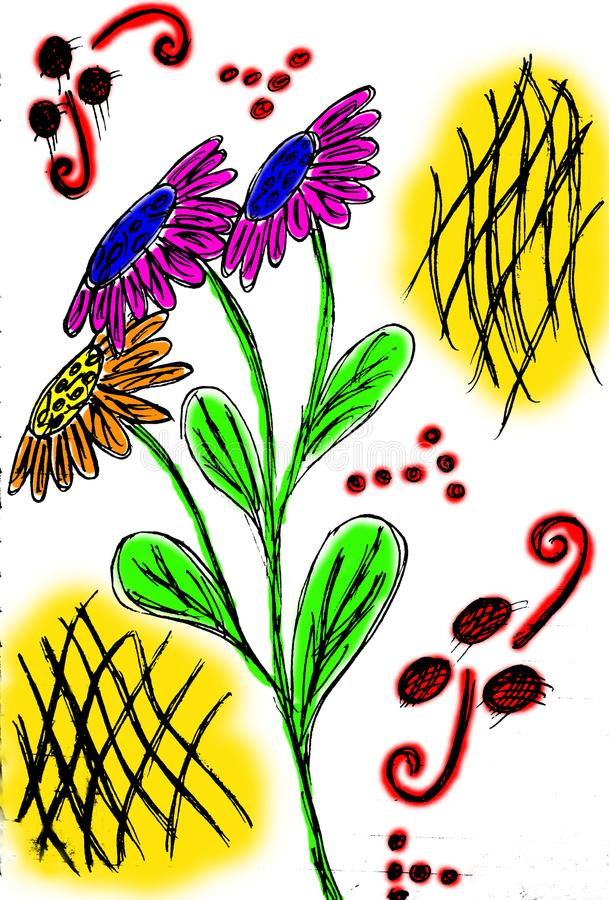 Illustration of flower bouquet royalty free stock photo