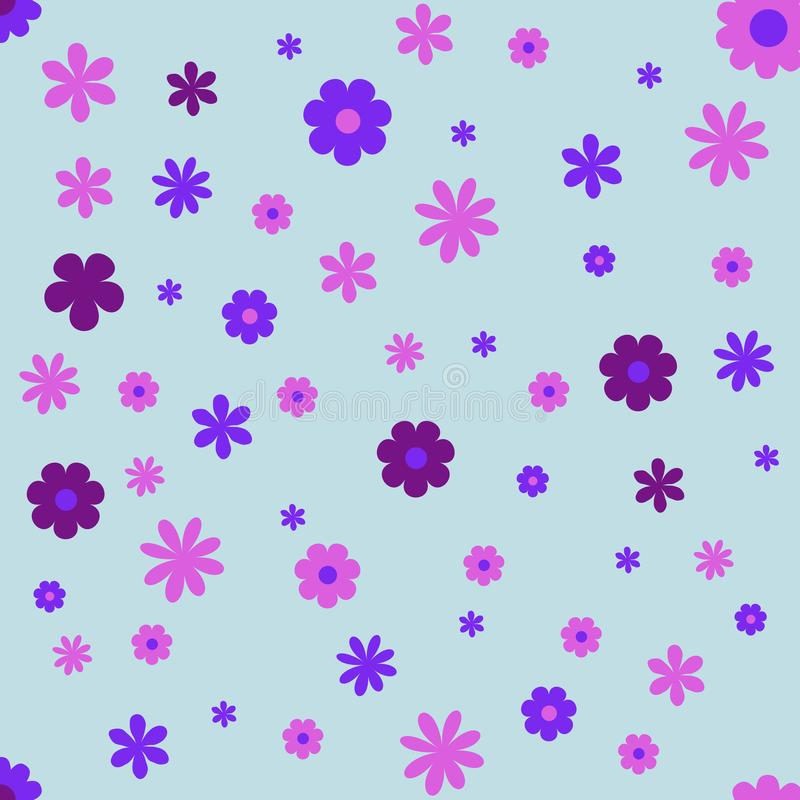 Flowers Frame wallpaper background. vector illustration