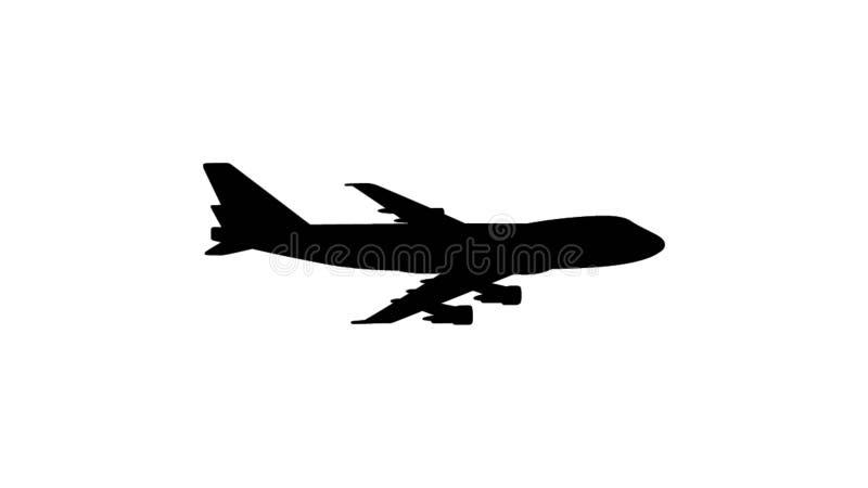 Illustration of a flying plane royalty free illustration