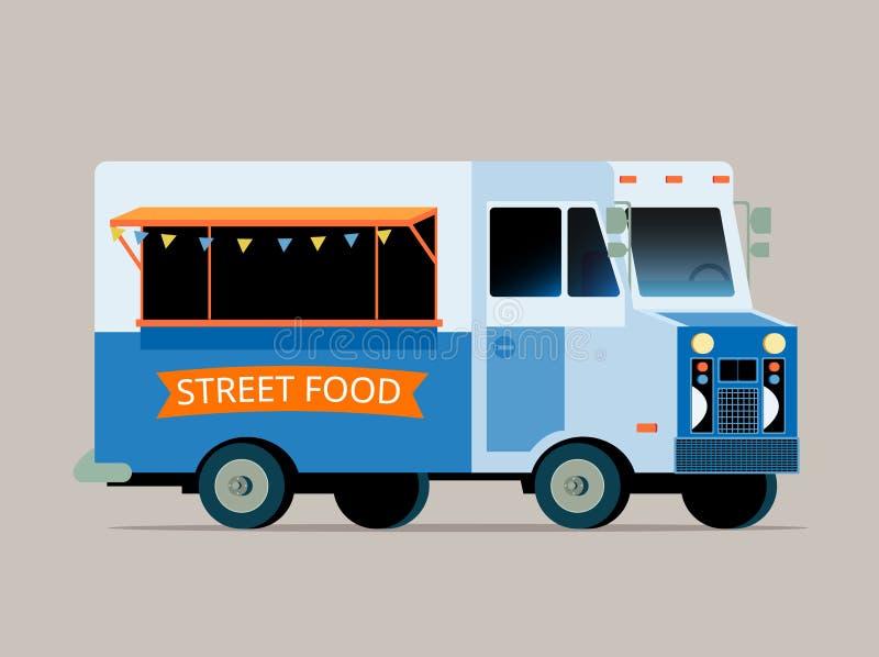 Illustration of food truck royalty free illustration