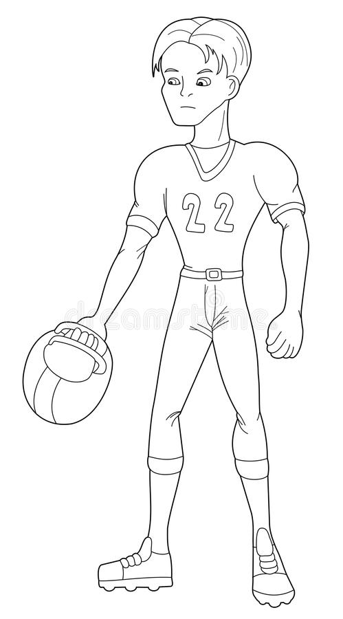 Illustration of a football player royalty free stock photos