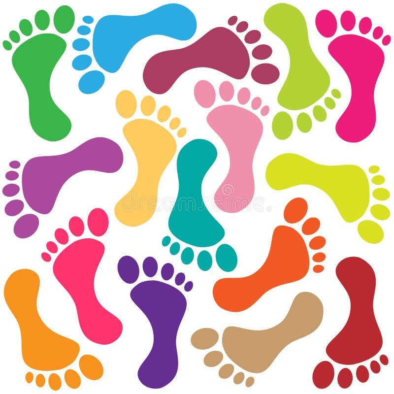 Footprint vector illustration