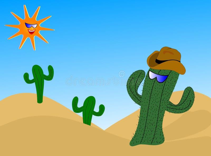Illustration fraîche de cactus illustration libre de droits