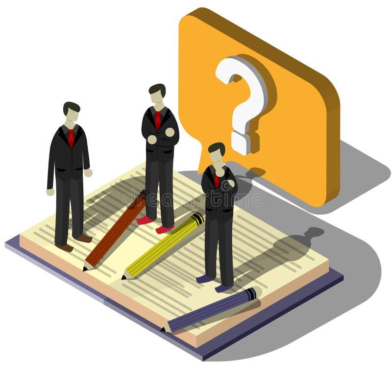 Illustration Fragezeichenkonzeptes der Informationen des grafischen lizenzfreie abbildung