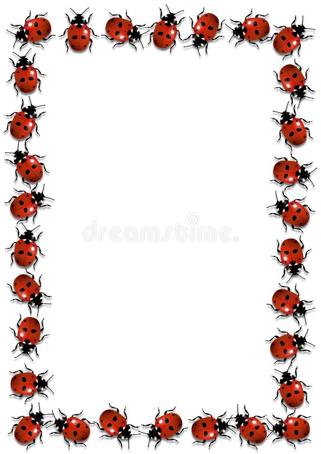 Ladybirds Frame stock image