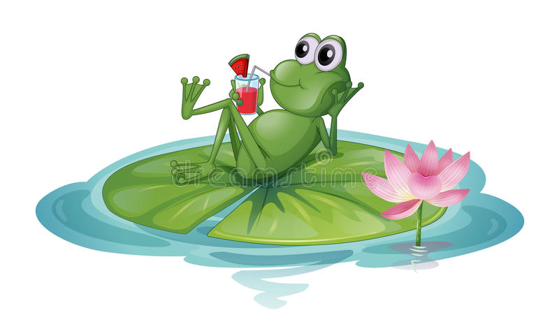 A Frog Relaxing On A Leaf Royalty Free Stock Photo