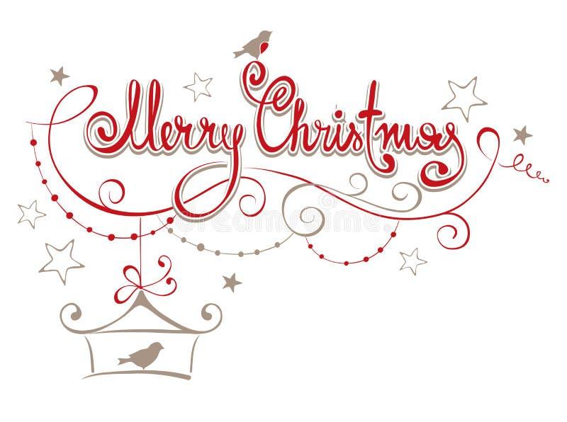Illustration -- Frohe Weihnachten stock abbildung