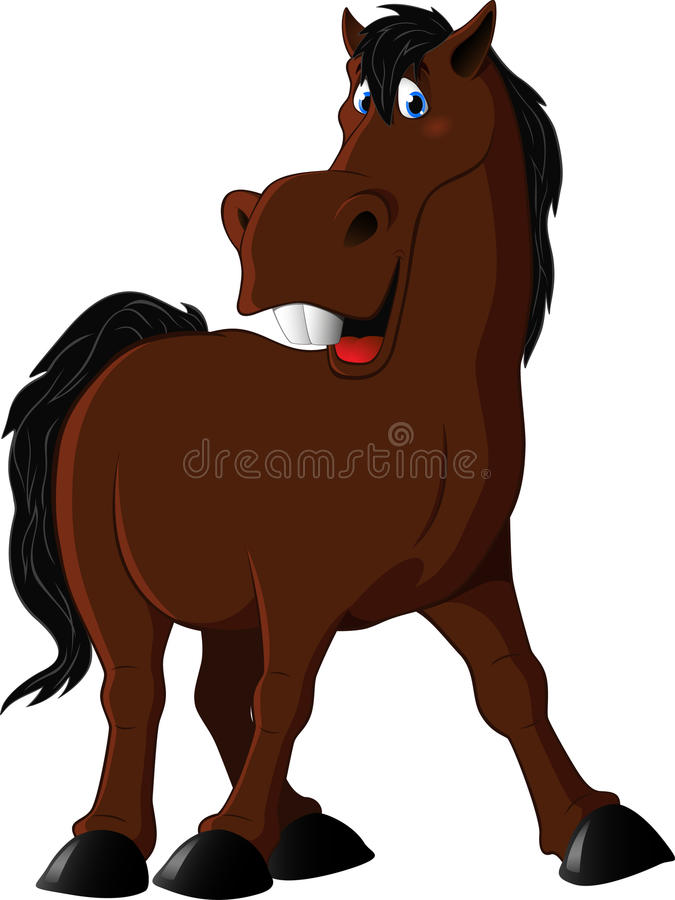 Illustration of a funny horse stock illustration