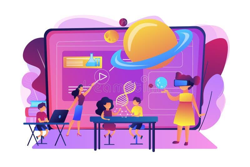 Illustration futée de vecteur de concept des espaces illustration stock