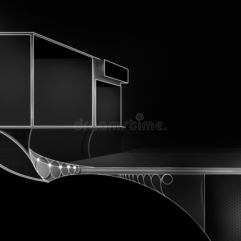 Dark Metallic Texture of  Architecture and Building stock illustration