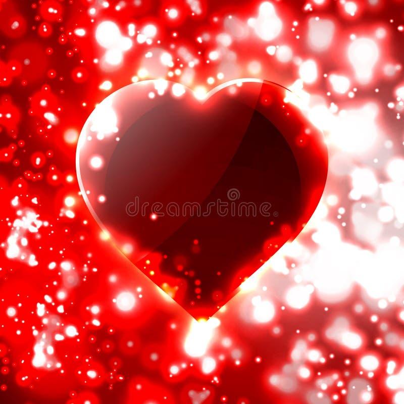 Illustration futuriste de coeur illustration stock