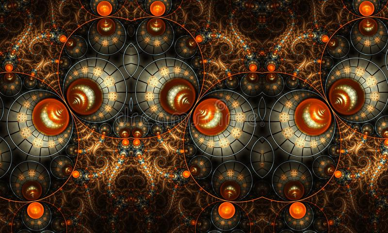 Illustration générée par ordinateur artistique abstraite de formes et de modèles des fractales 3d pour la conception créative illustration libre de droits