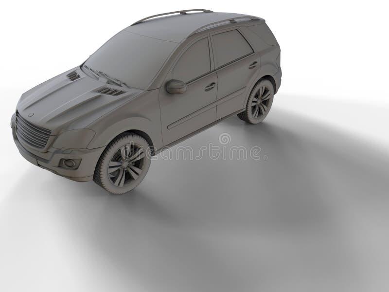 Illustration générique de voiture de SUV illustration de vecteur