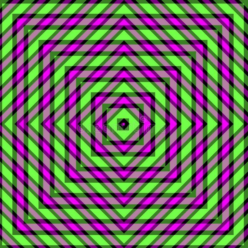 Illustration géométrique abstraite de rose et de fond de Lignes Vertes illustration libre de droits