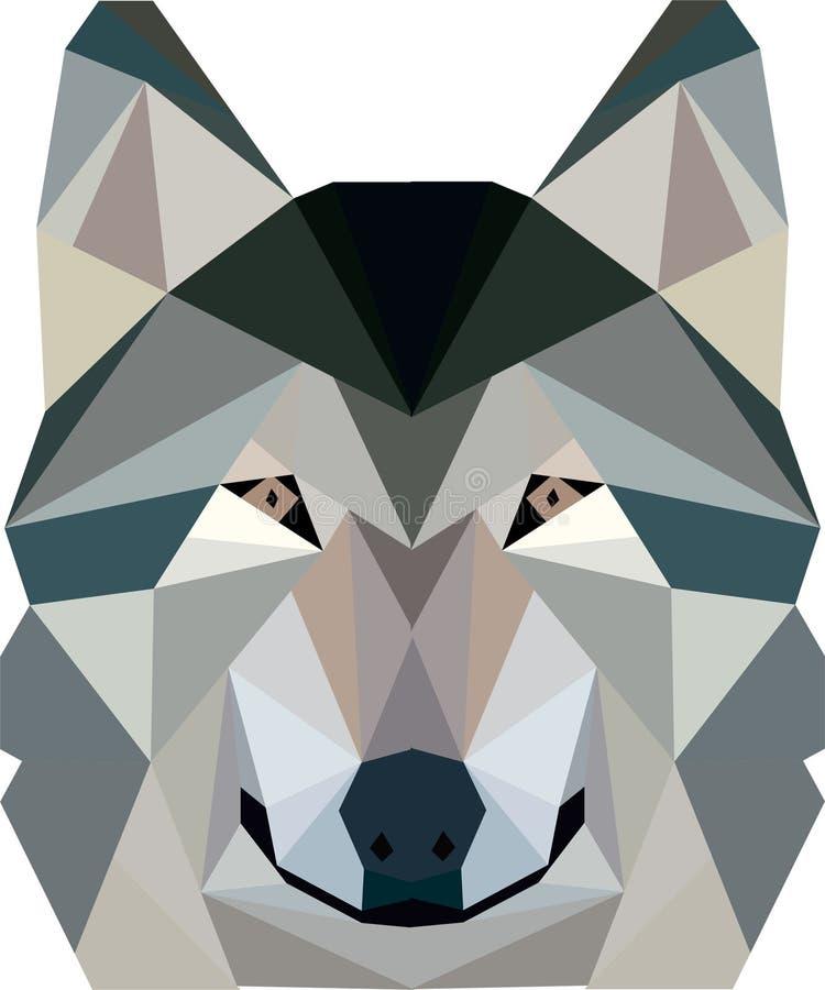 Illustration géométrique de conception de loup image libre de droits