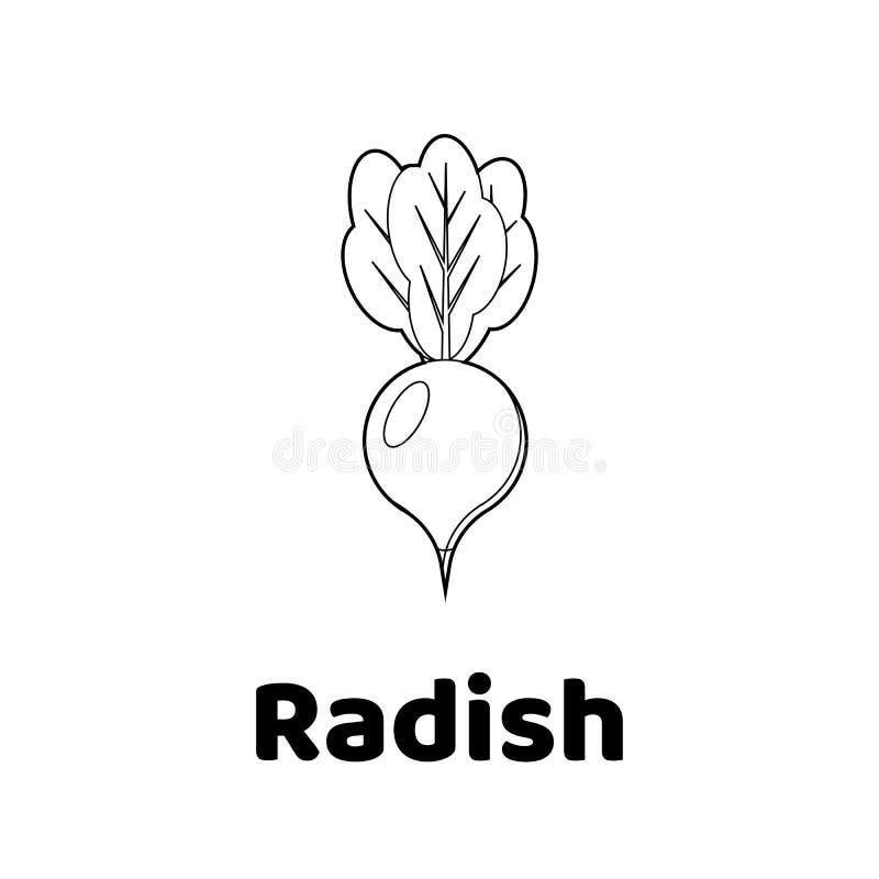 download illustration game for children vegetable coloring page radish stock illustration illustration