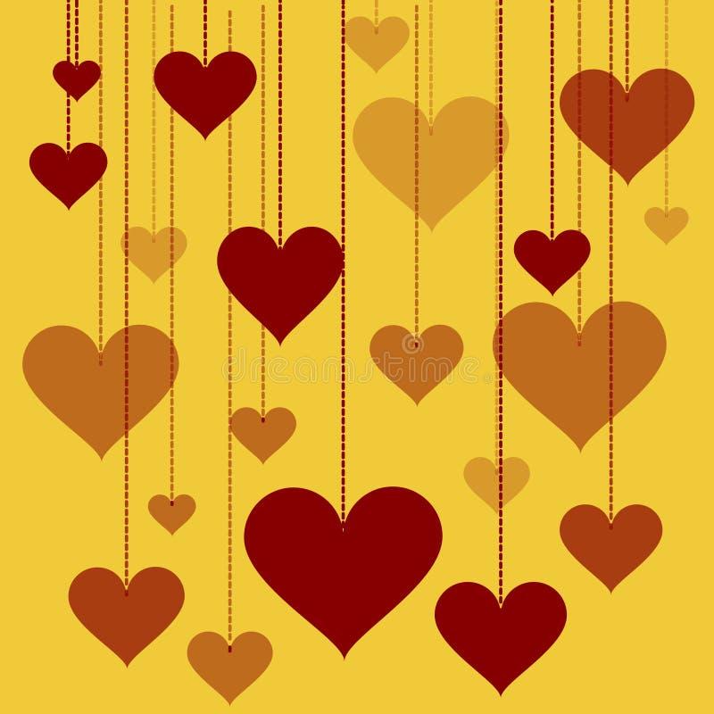 Illustration of a garland of hearts background Valentine's Day, wedding vector illustration