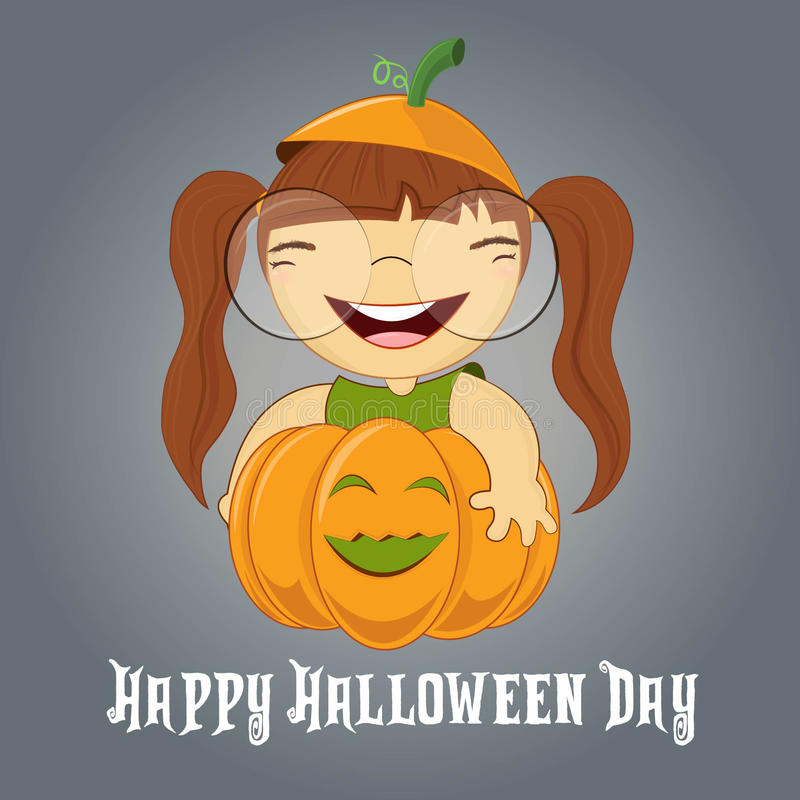 Download Illustration Of A Girl On Pumpkin Halloween Stock Illustration - Image: 40335934