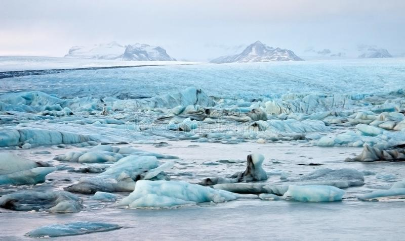 Illustration of Glacial Lagoon royalty free stock photos