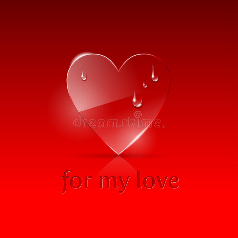 Download Illustration With Glass Heart Stock Vector - Image: 20748445