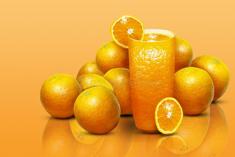 Illustration of a glass of orange juice royalty free stock photo