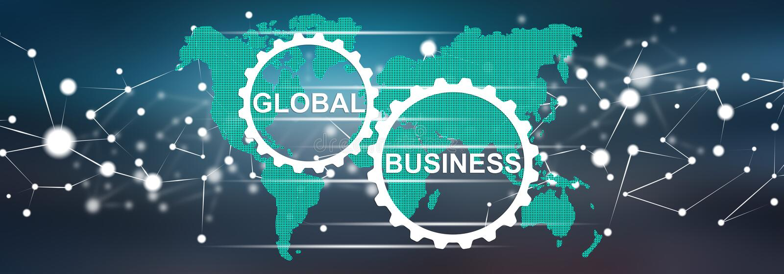Concept of global business stock illustration