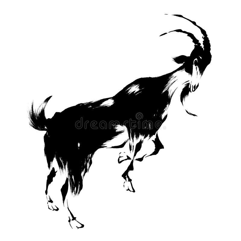 Illustration of the goat royalty free illustration